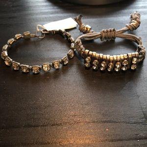 Jewelry - Nordstrom grey and rhinestone bracelets